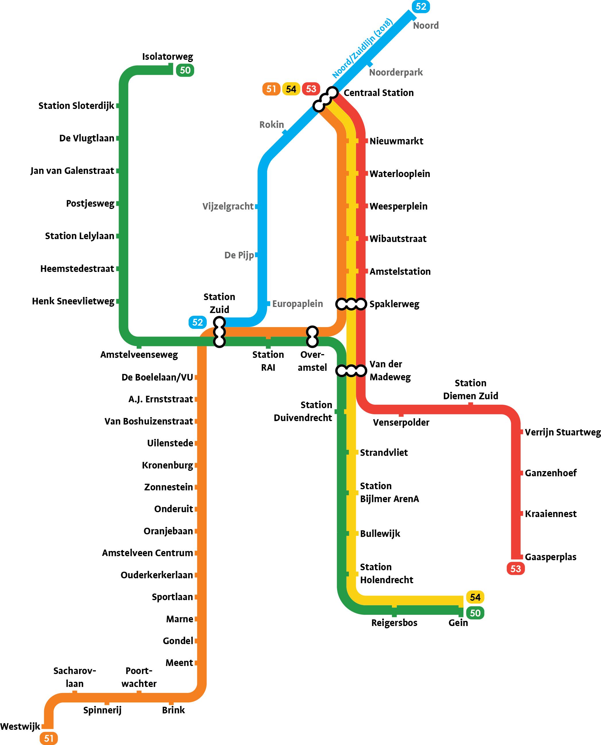 Metroplattegronden - Spoor en Kaart